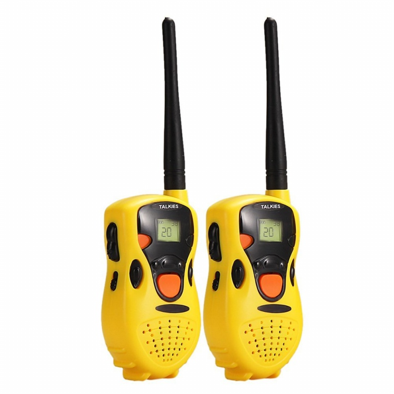 1 Pack Of Two Handheld Walkie Talkie For Children Kids Toy Educational Games Yellow