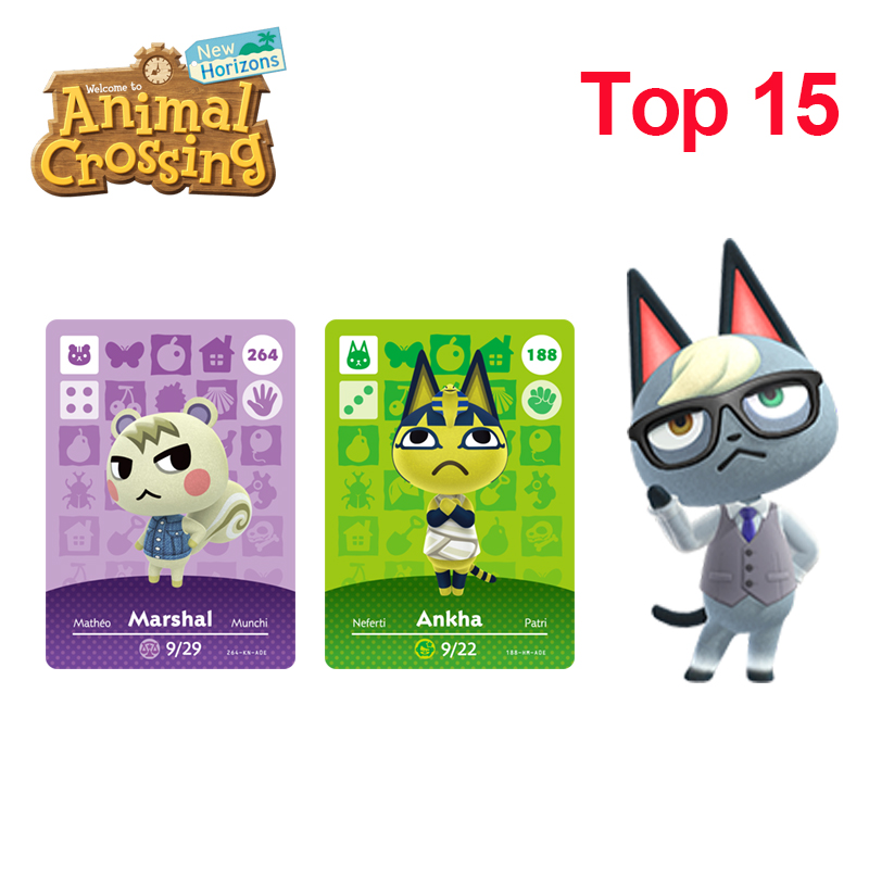 Top Fifteen Most Popular Villagers In Animal Crossing New Horizons Raymond/Judy/Marshal/Ankha/Coco/Diana/Merengue/Fauna Amiibo