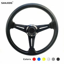 цена на Sports Steering Wheels For Car With Quick Release Direction Modified 14 Inch 350mm Aluminum Moving Rudder