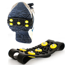 1 pair 5-Stud Outdoor Snow Ice claw Climbing Anti Slip Spikes Grips Crampon Cleats Shoes Cover For Women Men Boots Size