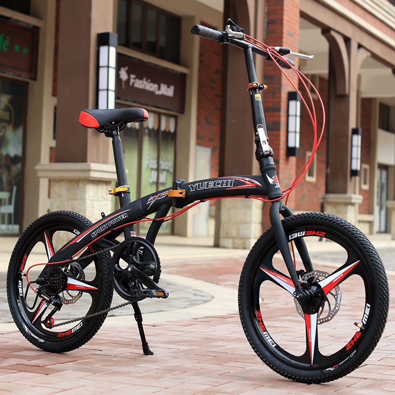20 Inch disc brake cycling bike portable folding bicycle magnesium alloy rims recreational bikes fit Students ladies travel tool