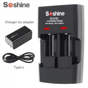 Image 1 - Soshine 2 Slots Li ion RCR123 / RCR2 Rapid Battery Smart Charger with LED Indicator for 14250 CR2 16340 17335 15266 Battery