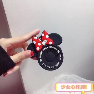 Новинка 2019, модный кошелек для монет с Микки и Минни, персональные кошельки для камеры, мультяшная силикагелевая Сумочка-клатч для монет, мини сумка для хранения