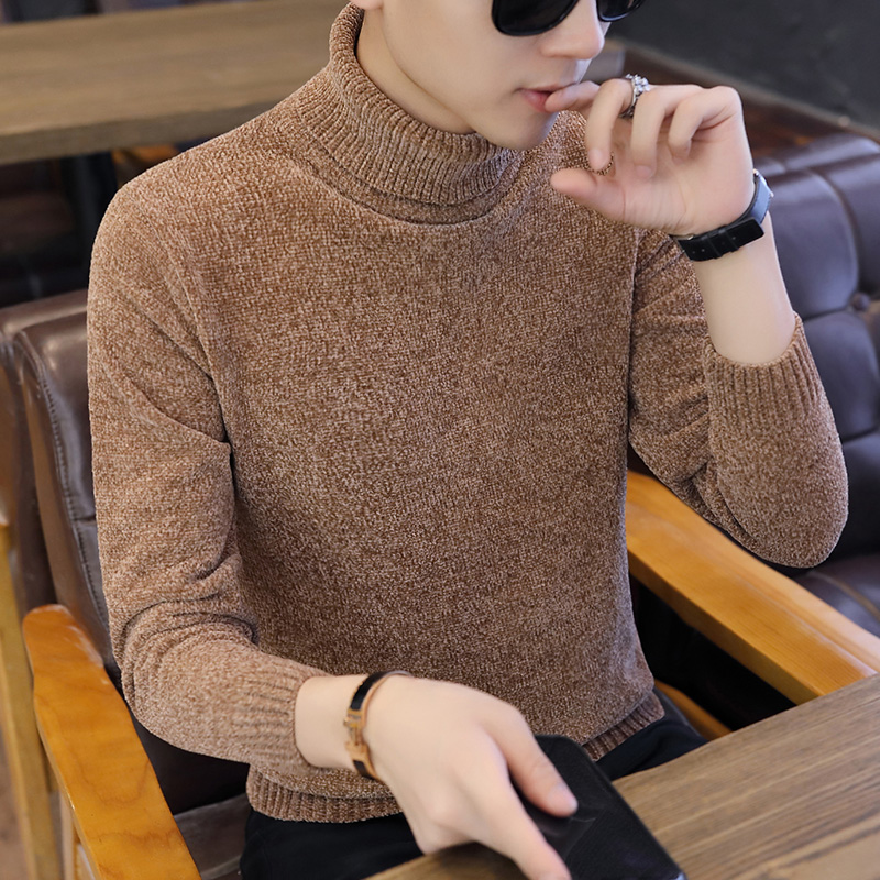 2019 Winter Thick Warm Cashmere Sweater Men Turtleneck Mens Sweaters Slim Fit Pullover Men Classic Wool Knitwear Pull Homme 2XL