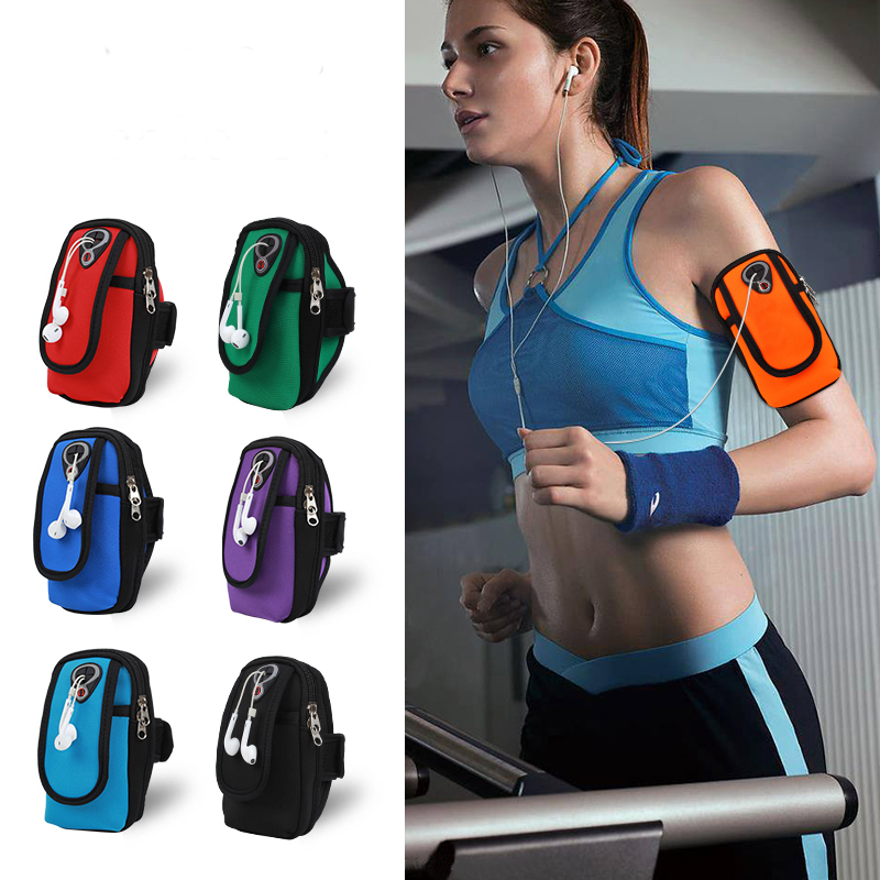 running - 1PCs Universal Sports Armbands Bag Running Pouch for Mobile Phone Waterproof Gym Outdoor Hand Holder Case 6 Inch Running Bags
