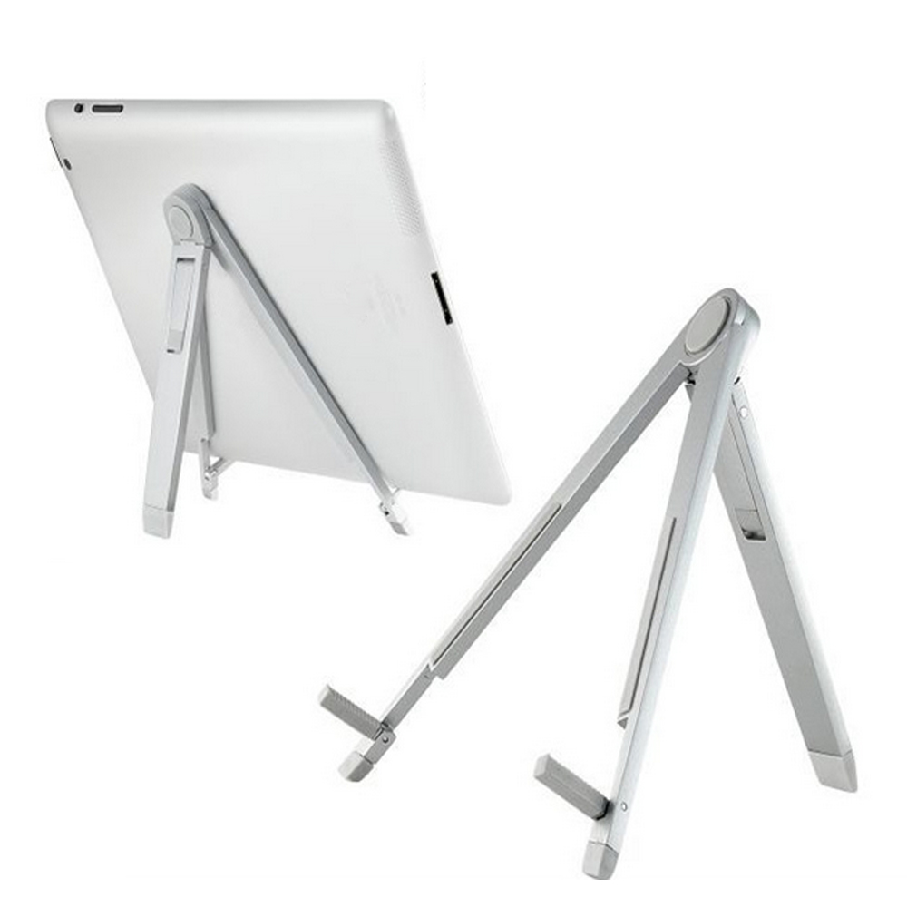 Besegad Foldable Tablet Stand Adjustable Aluminum Alloy PC Tripod Support Stand Bracket Holder for Ipad Station Accessories