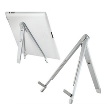 Besegad Foldable Tablet Stand Adjustable Aluminum Alloy PC Tripod Support Stand Bracket Holder for
