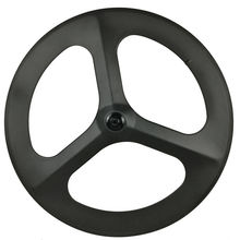 цена на [CBRTW3] 23mm wide carbon 3 spoke wheels 700c bicycle carbon road/track/fixed/ road Disc brake tri spoke wheels