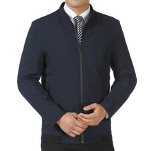 Man Business Casual Jackets Autumn Spring Outerwear Male Blue Army Gre
