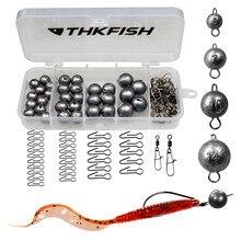 46 pièces/66 pièces plombs de pêche poids de balle 5g 7g 10g 14g 20g accessoires de matériel de pêche avec boîte