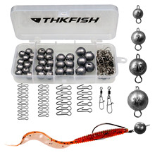 46pcs/66pcs Lead Fishing Sinker Bullet Weight 5g 7g 10g 14g 20g Fishing Tackle Accessories with Box