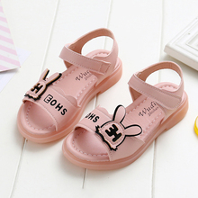 Kids Shoes Princess 2020 Summer Girls School Shoes Rabbit Ears Children Leather Girls Dress Shoes Sweet Sandals For Girls cheap opoee Rubber Soft Leather Flat Heels Hook Loop Fits true to size take your normal size 14T Bowtie Ankle-Wrap Unisex