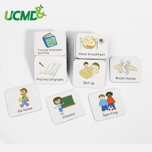 Image 2 - Time Schedule Fridge Magnet 40pcs Children Task Good Habit Magnetic Stickers Montessori Kids Early Educational Learning Toys