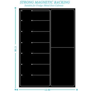 Image 3 - 磁気ホワイトボードプランナーキッチン冷蔵庫のカレンダー主催メモ帳毎週プランナーホワイトボード冷蔵庫マグネット