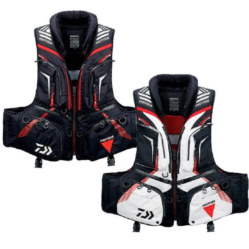 1PC Drop Shipping  Outdoor Daiwa Men Fishing Vest Life Jacket Multi-Pockets Float Buoyancy Fishing Pesca Clothing Vest