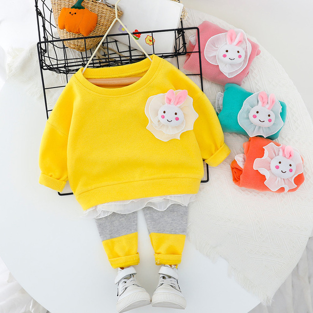 Spring Baby Girl Clothes Set Pullover Sweatshirt+Leggings 2pcs Infant Clothing For Girls Suit Lovely Cotton Leisure Kids Outfit | Happy Baby Mama