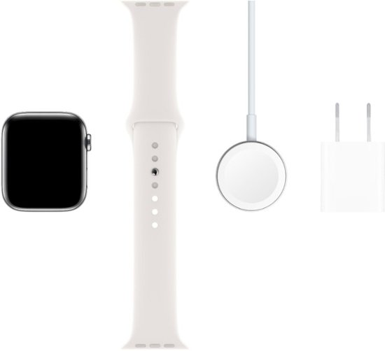 Stainless Steel Case with White Sport Band - Stainless Steel-7