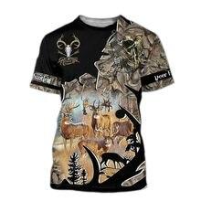 2020 novo caçador camiseta impressão 3d esportes ao ar livre dos homens caça popular veados caça manga curta oversize desconto por atacado