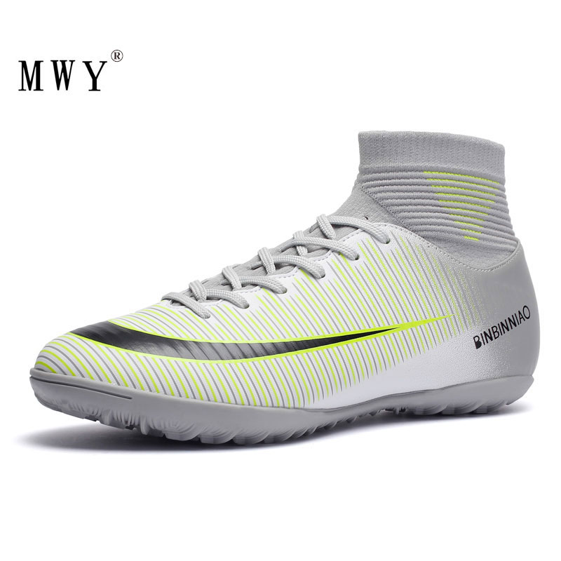 MWY Indoor Sneakers Cleats Soccer-Shoes Football-Boots Athletic Sock Turf Zapatos-De-Futbol