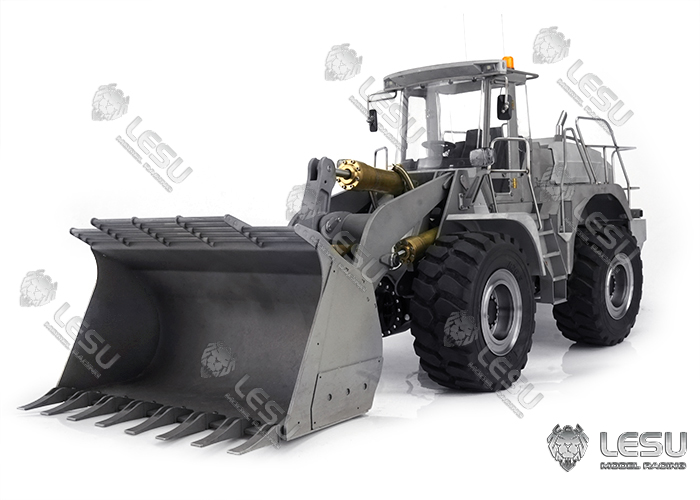 LESU New Metal Shell Upgrade 1/15 Hydraulic Loader L574 Wheeled Engineering Forklift Model KIT