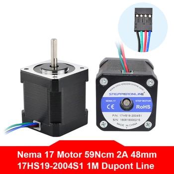 Free Shipping Nema17 Stepper Motor 42BYGH Motor 48mm 2A 17HS19-2004S1 Nema 17 Motor 4-lead for 3D Printer Motor цена 2017
