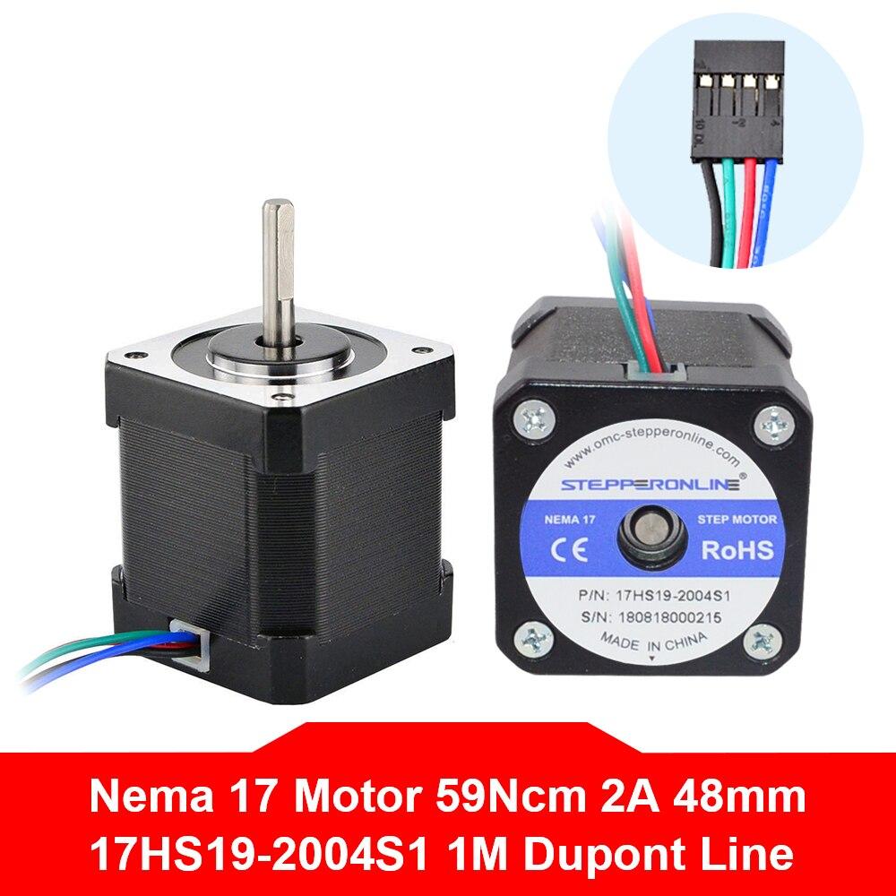 Бесплатная доставка Nema17 шаговый двигатель 42 двигатель bygh 48 мм 2A 17HS19 2004S1 Nema 17 двигатель 4 свинцовый для 3D принтера|Шаговый двигатель|   | АлиЭкспресс