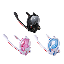 Snorkeling-Mask Diving-Goggles Swimming Full-Face Double-Tube Silicone New Adult Manufacturer's
