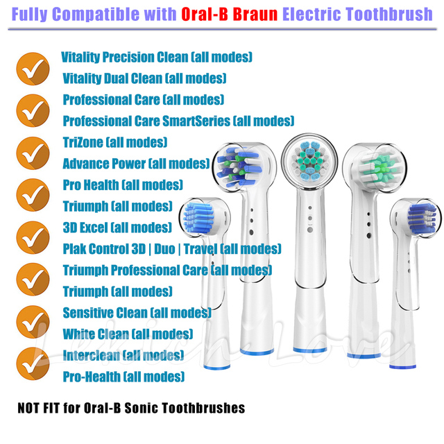 Replacement Toothbrush Heads with Protecting Covers for Oral B Electric Toothbrush to Keep Healthy Brushing and Hygienic Storage 5
