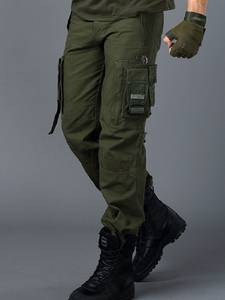 Trousers Overalls Cargo-Pants Pocket Army-Clothing Combat Military-Work Men Male Straight