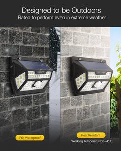 Image 2 - Blitzwolf BW OLT1 太陽光発電 62 LED スマート Pir モーションセンサー制御 IP64 用屋外ガーデンパス庭 scecurity