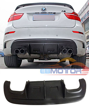 UNPAINTED A TYPE Rear Diffuser Spoiler For BMW E71 X6 M X6M 2009-2014 B370F image