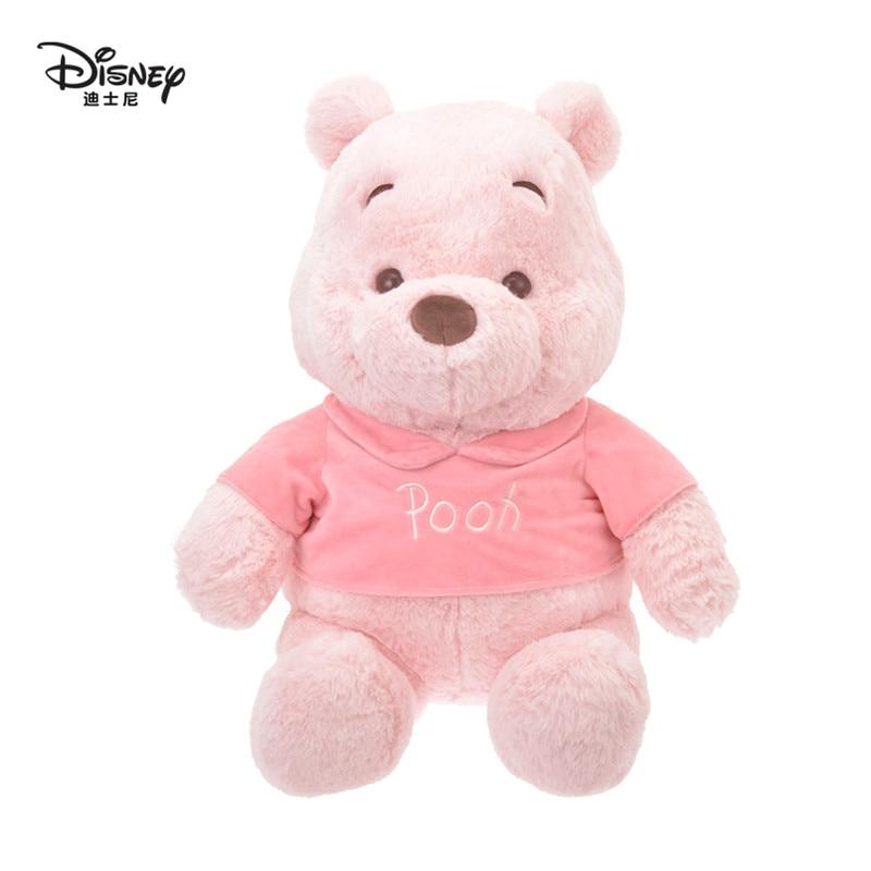 Orijinal Disney 23cm Sakura Winnie the Pooh pembe karikatür ayı orijinal peluş oyuncak yumuşak Kawaii dolması hayvan peluş doğum günü hediyesi