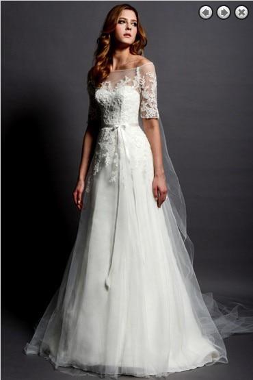 Free Shipping New Fashion 2016 Woman Dress Designer Plus Size Sweetheart White Long Sleeve Backless Dress Lace Wedding Dresses