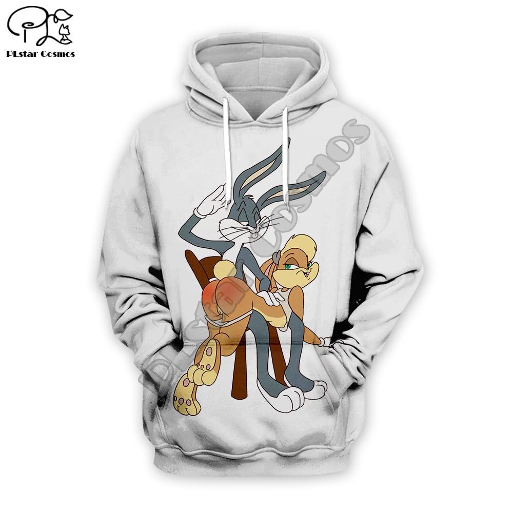 PLstar Cosmos Men Women Harajuku Hoody Bugs Bunny/Pokemon/Teddy Bear Print 3d Sweatshirt Hoodies Outdoors S-5XL Drop Shipping