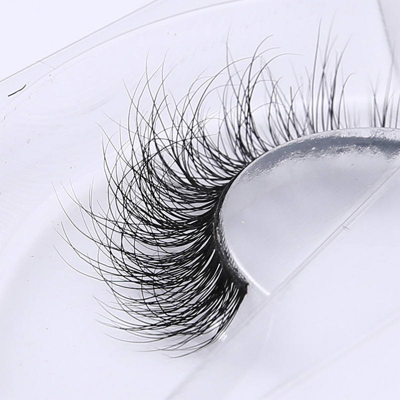 3D Mink Eyelash Real Mink Handmade Crossing Lashes Individual Strip Thick Lash Fake Eyelashes A02