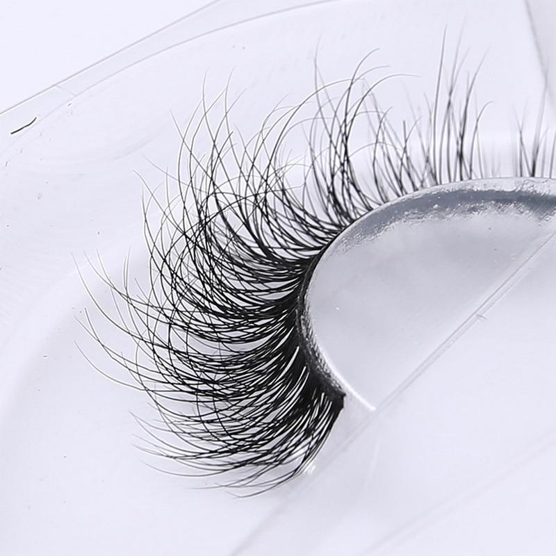 3D Mink Eyelash Real Mink Handmade Crossing Lashes Individual Strip Thick Lash Fake Eyelashes A02