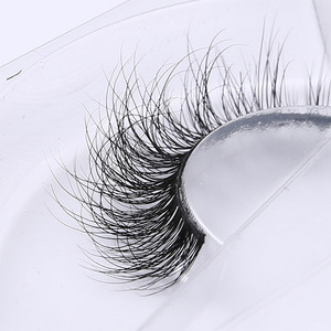 Image 1 - 3d vison cílios real vison artesanal cruzando cílios tira individual grosso chicote cílios falsos a02