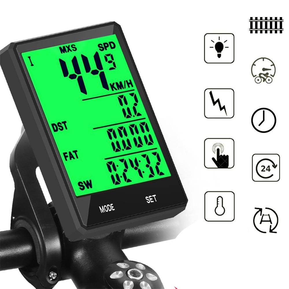 Waterdichte Fiets Computer Draadloze En Bedrade Mtb Bike Fietsen Kilometerteller Stopwatch Snelheidsmeter Horloge 2.8 Inch Led Digitale Rate