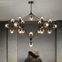 Modo lustre rústico loft industrial do vintage lustre cozinha loja restaurante arte decoração bolha de vidro pingente lâmpada