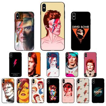 FHNBLJ David Bowie Custom Soft Phone Case for iphone 11 12 Mini Pro Max X XS MAX 6 6s 7 8 Plus 5 5S 5SE XR SE2020 image