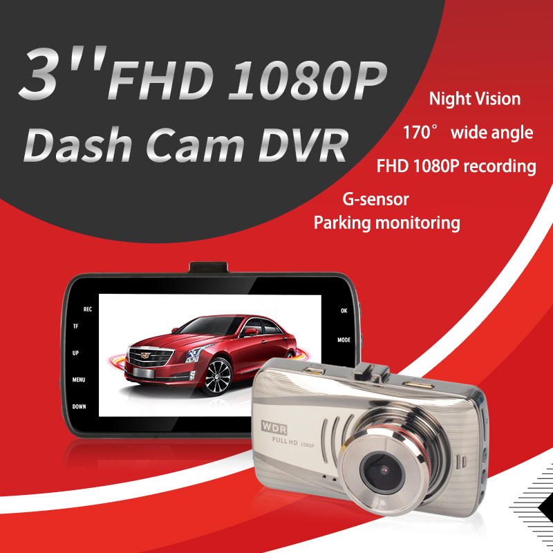 Cam DVR Driving-Recorder Camera Car Usb-Monitoring Dual-Lens Car Dash 1080P HD Reversing-Image