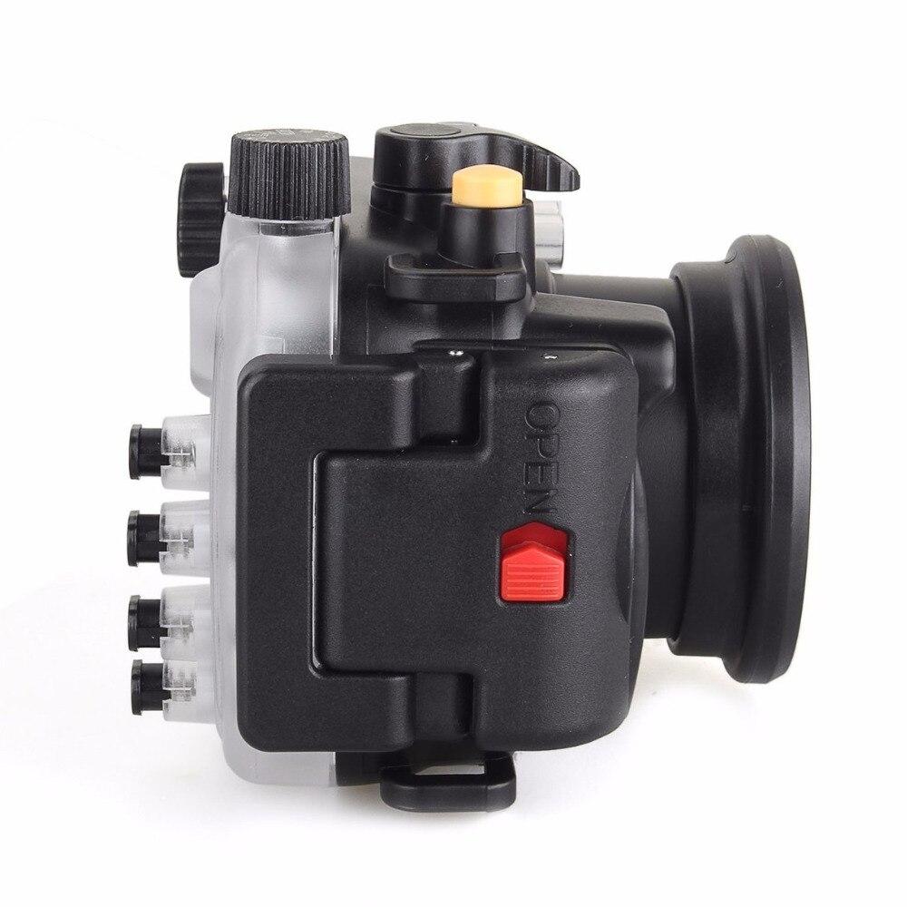Image 2 - 40 متر/130FT تحت الماء كاميرا مقاومة للماء الإسكان الغوص الحال بالنسبة لكانون PowerShot G9X + 67 مللي متر الأحمر تصفيةcase for canonwaterproof camera housingwaterproof case for camera -