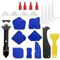 23 шт. набор инструментов для шпаклевки  3 в 1 инструменты для шпаклевки силиконовый герметик Отделочный Инструмент Затирка скребок для шпакл...