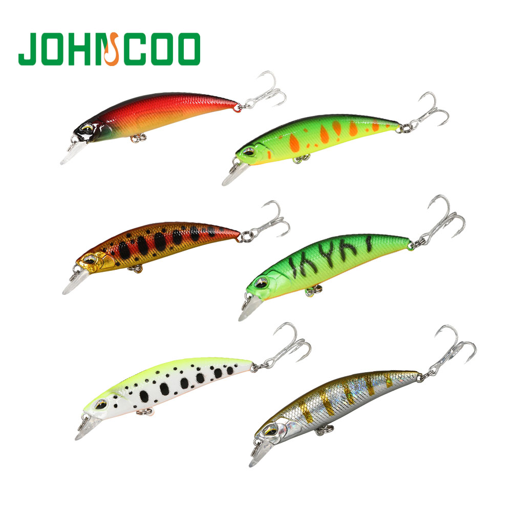 JERKBAIT RYUKI 60/70SR Fishing Lure 60mm/70mm Sinking Vibrating Minnow Wobbler Hard Lure Bass Pike Peche Isca Artificial Bait