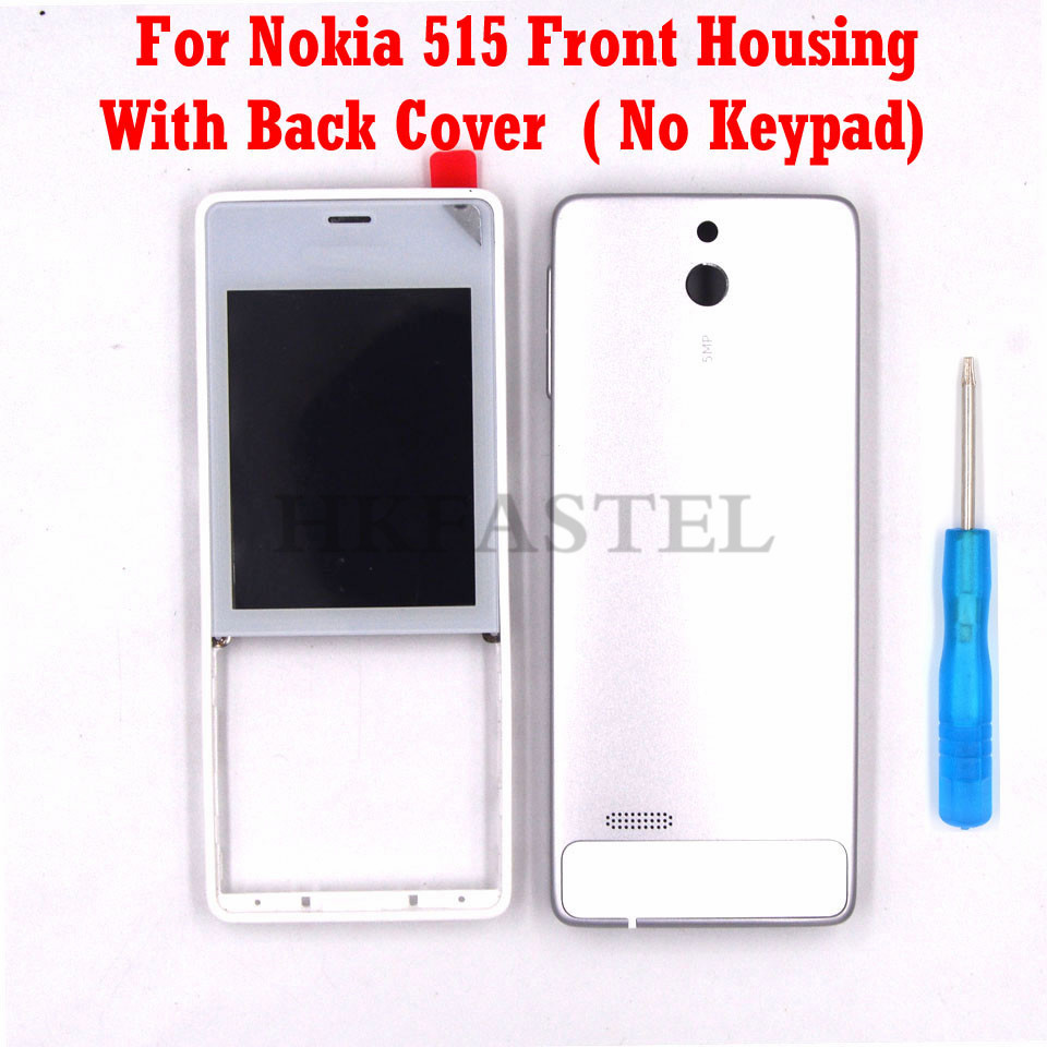 Housing For Nokia 515  Mobile Phone Cover Case With Volume Button No Keypad + Tool Free shipping|Mobile Phone Housings & Frames| |  -