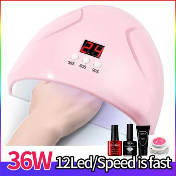 1PC 36W Smart Sensor Nail Lamp Timing UV Gel Nail LED Light Therapy Machine USB Interface Multifunctional Nail Care Drying Lamp image