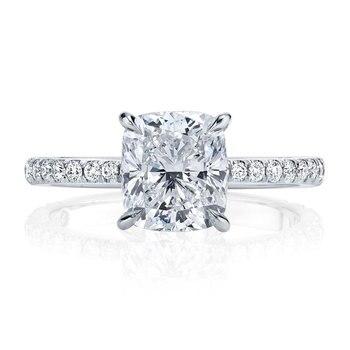 Luxury Solid 14K Gold Moissanite Engagement Ring for Women 6