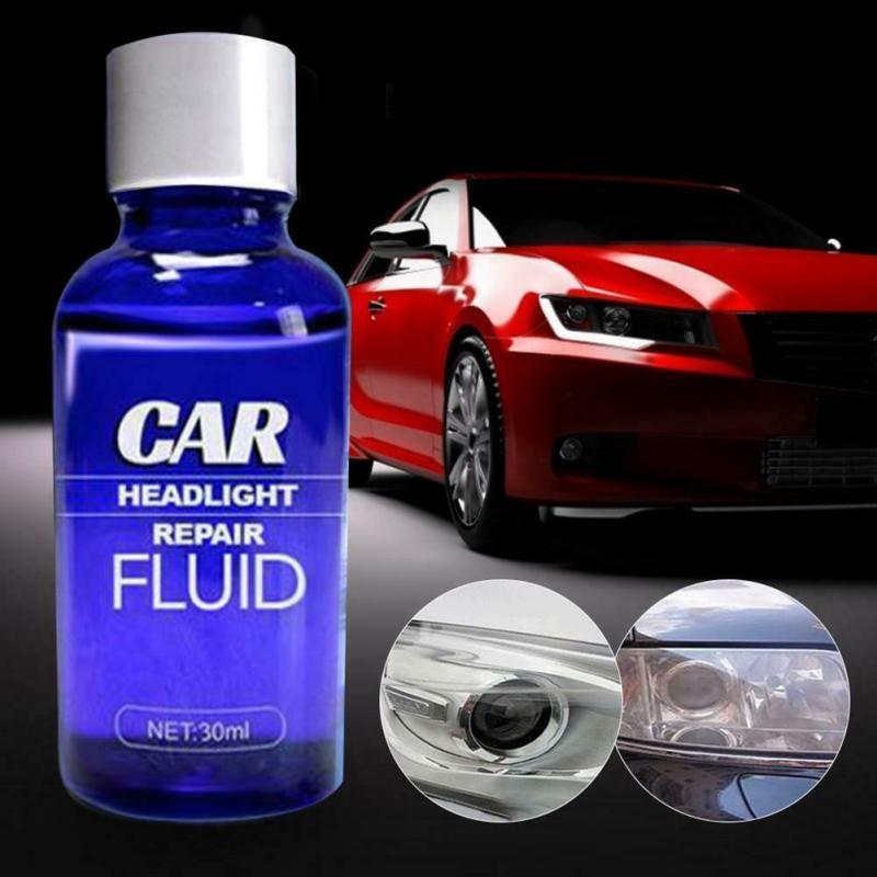 30ML Car Headlight Maintenance Clean Retreading Agent Spray Polish Repair Fluid Headlight Polishing Anti-scratch Liquid TSLM1