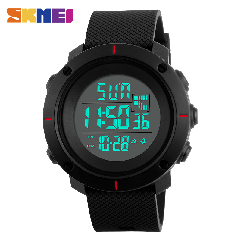<font><b>SKMEI</b></font> Digital Military Watch Men Sport 5Bar Waterproof Multifunction LED Back Light Chronograph Alarm Clock Wristwatches hombre image