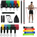 Top Latex Yoga Elastic Resistance Bands Upgrade Training Bar Set Pilates Fitness Tube Pull Rope Rubber Expander Bands Gym/Home